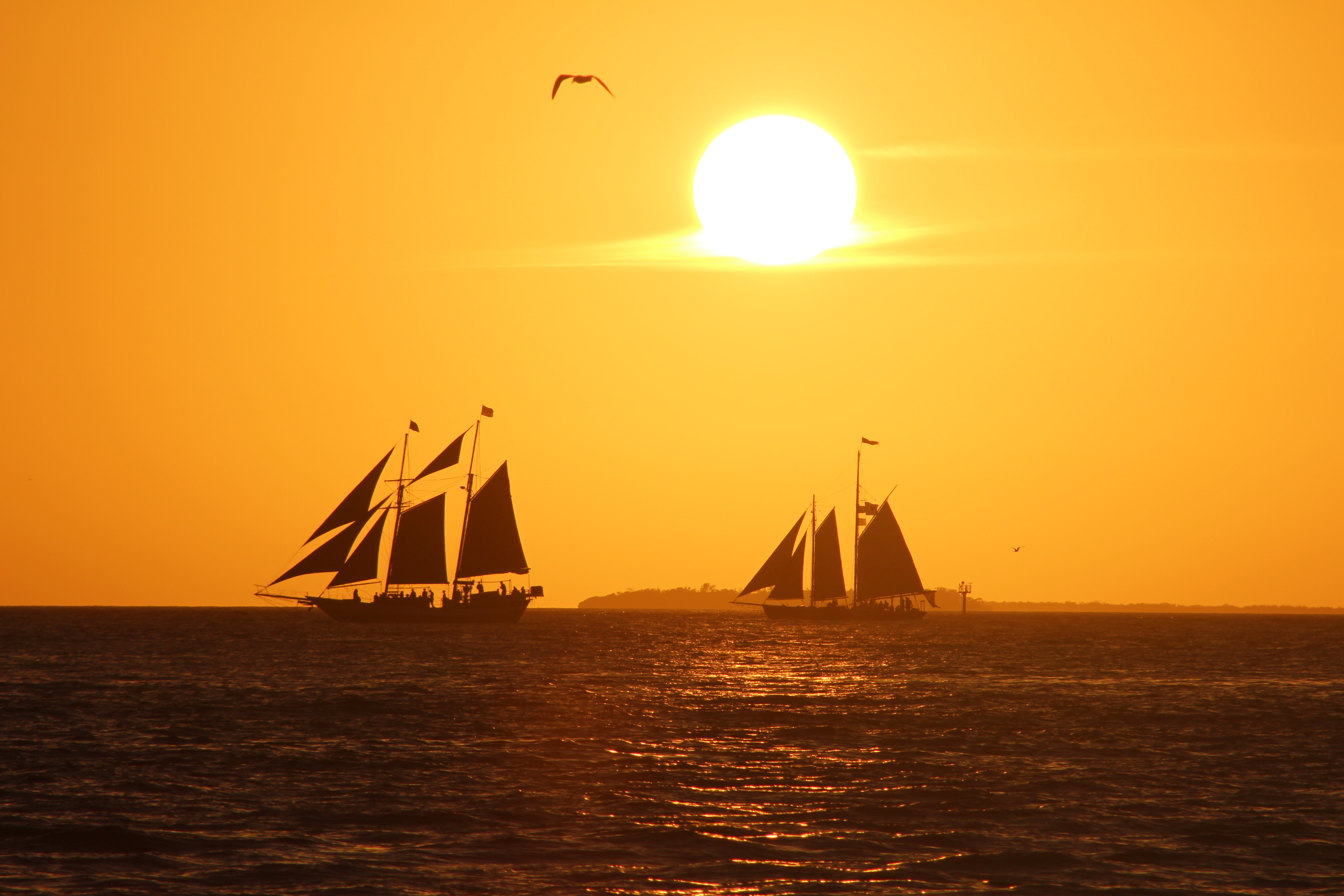 Key-West-Sunset-Floride-USA-Key-Largo-Boat-Bateau
